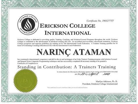 Erickson College Trainers Training