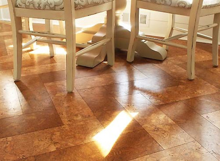 Cork on the Floor- the super sustainable, eco friendly way to cover your floor!