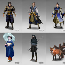 Fuedal Japan Character Concept Art
