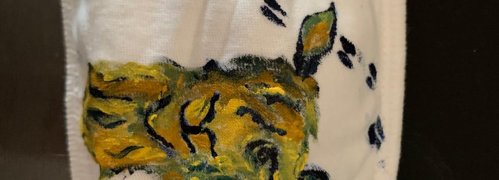 Hand painted mask-- Llama design- $15