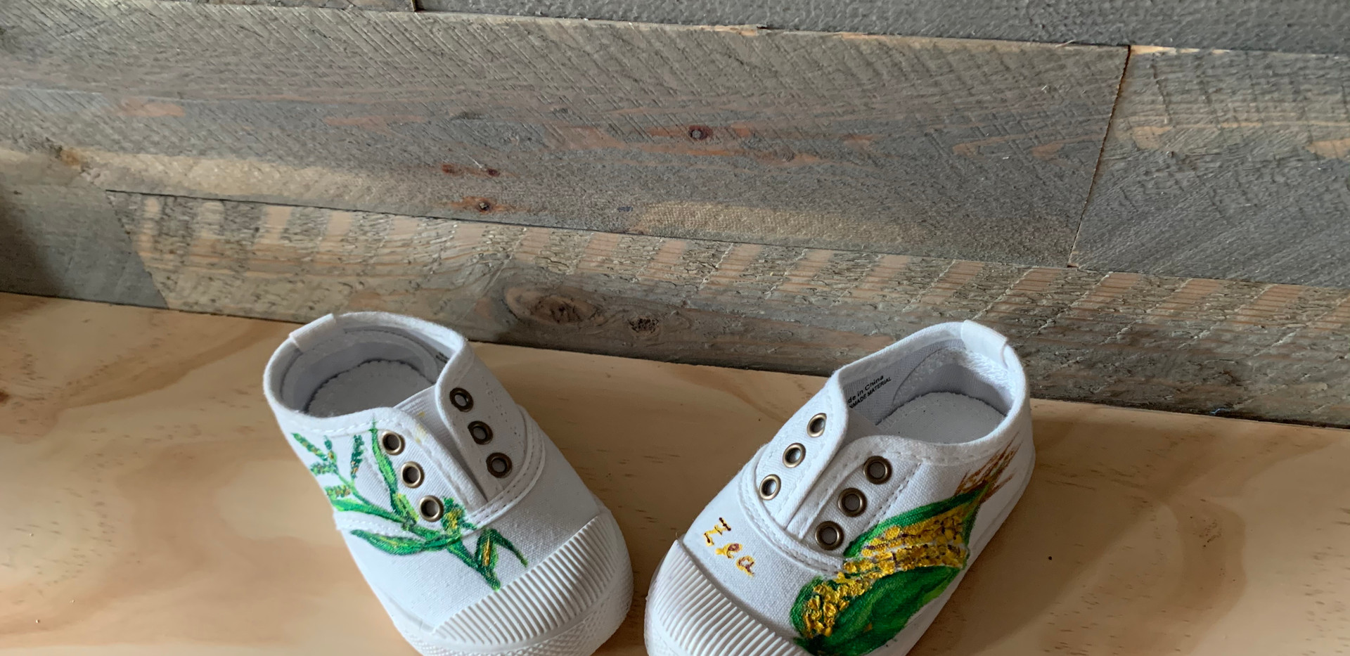 Kids Custom Painted Canvas Shoes- $55