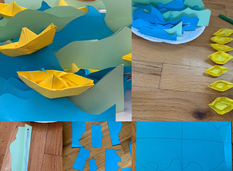 Day 4 of #artagainstcoronavirus : Paper waves and boats