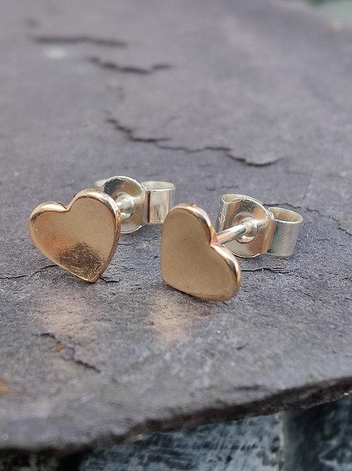 14ct Goldfill heart stud