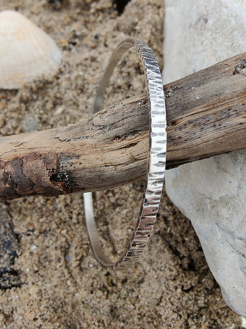 Tree bark bangle