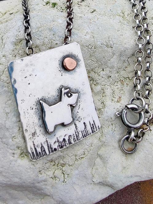 Scottie dog pendant