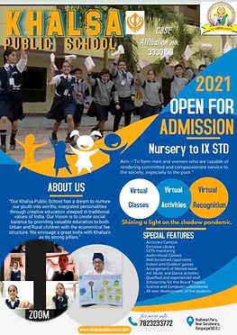 Admission open pic khalsa school 1 2021.
