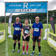 The line up local runners at the Dartmoor Marathon