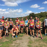 Local Runners at the start of a local fell race