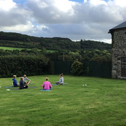 Yoga done properly in the beautiful outdoors
