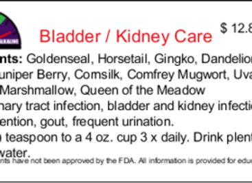 Bladder / Kidney Care 1 oz