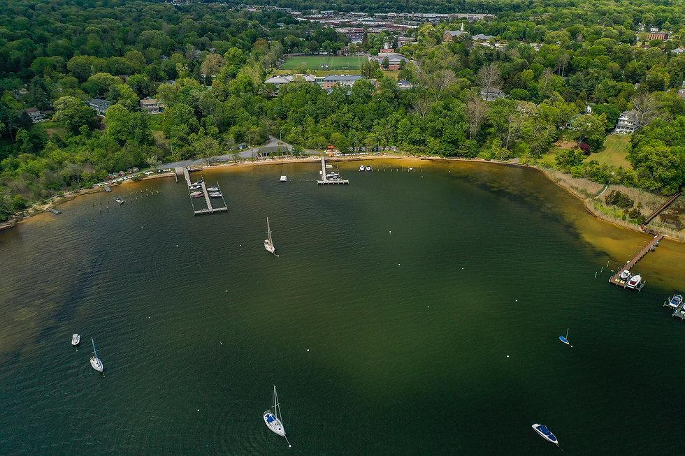DJI_0574 - Severna Park beach and marina
