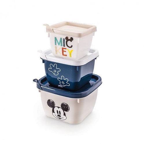 Conjunto com 3 Potes Conect Mickey Mouse - Plasútil