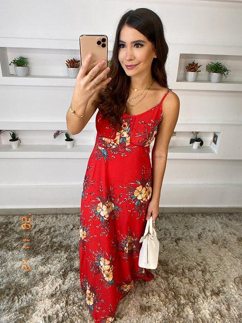 Vestido Red Flowers Mosaico