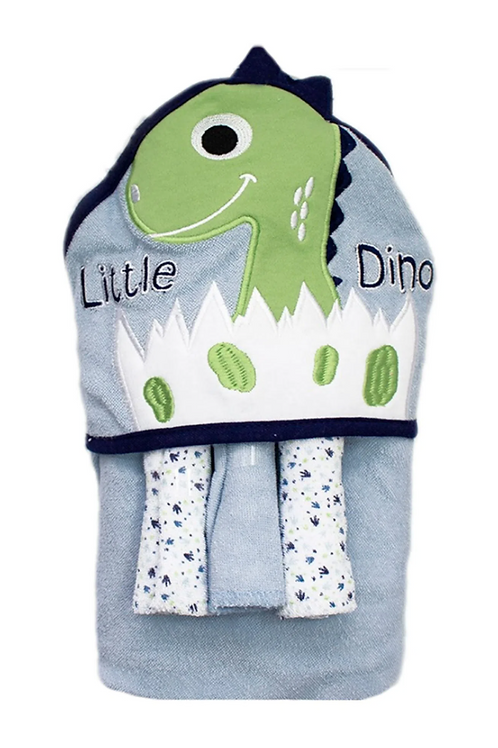 Kit Toalha Bebê Dino Camesa