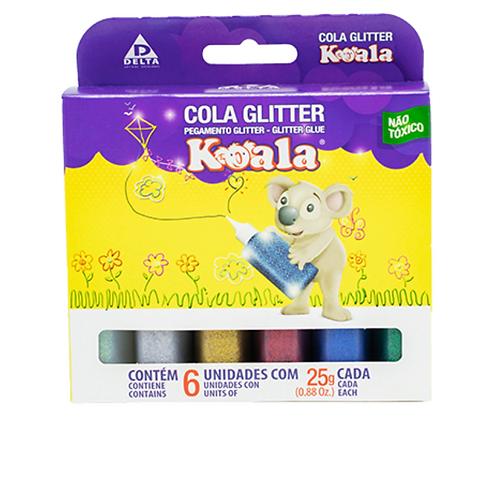 Cola Glitter 06 Cores Koala