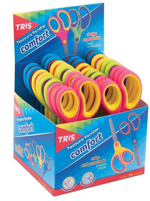 Tesoura Escolar Comfort Tris