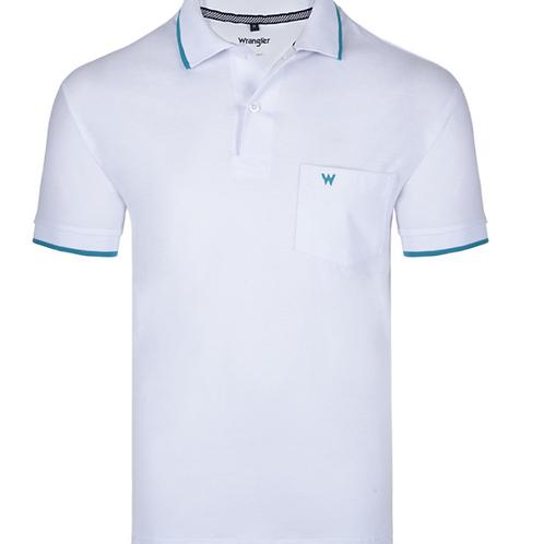 Camiseta Polo Piquet Wrangler Branca