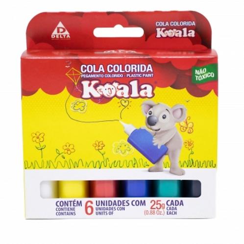 Cola Colorida 06 Cores Koala