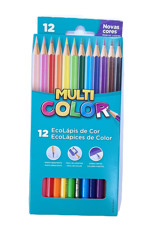EcoLápis de Cor Multi Color 12 Cores
