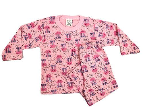 Pijama Mafessoni Feminino Kids Nuvem