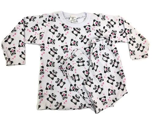 Pijama Mafessoni Feminino Kids Panda
