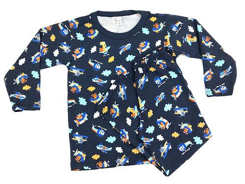 Pijama Mafessoni Masculino Kids Helicóptero