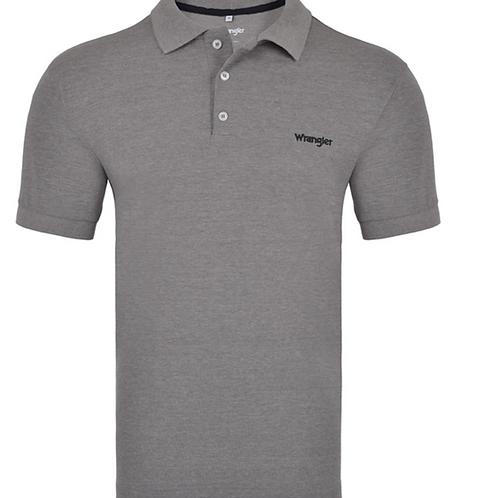 Camiseta Polo Piquet Wrangler Cinza