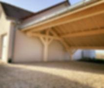 Carport 2 pans asymétrique