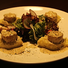 Grilled Scallop with Cream Sauce