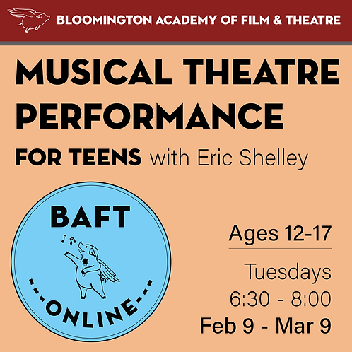 MUSICAL THEATRE PERFORMANCE FOR TEENS with Eric Shelley