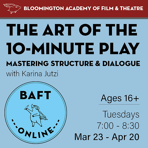 The Art of the 10-Minute Play: Mastering Structure and Dialogue w/ Karina Jutzi
