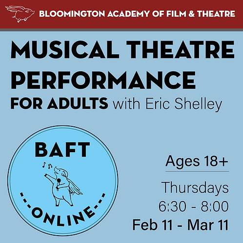MUSICAL THEATRE PERFORMANCE FOR ADULTS with Eric Shelley