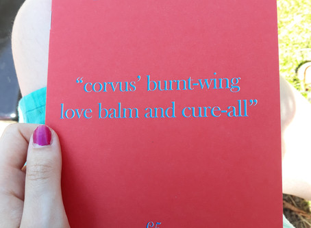 "Book Review: ""corvus' burnt - wing love balm and cure all"""