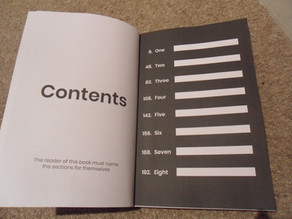 Contents: For the reader to fill in