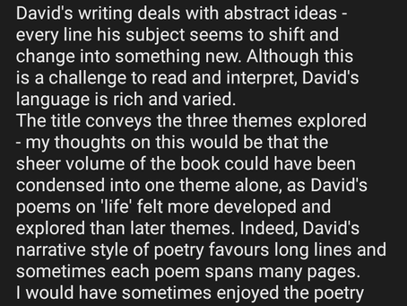 Poetry Review: Life, Sex & Death By David Ellis