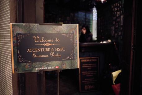 Accenture & HSBC 活動標牌