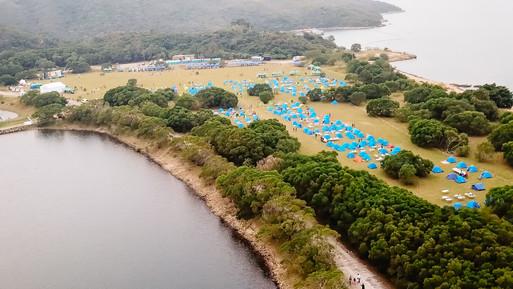 Aerial photo of GoGoCamp Saigon Camp