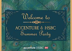 Accenture & HSBC 活動標牌設計