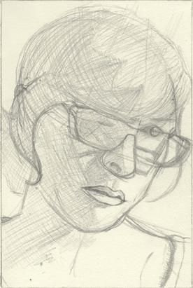 Expressive Self Portrait Sketch