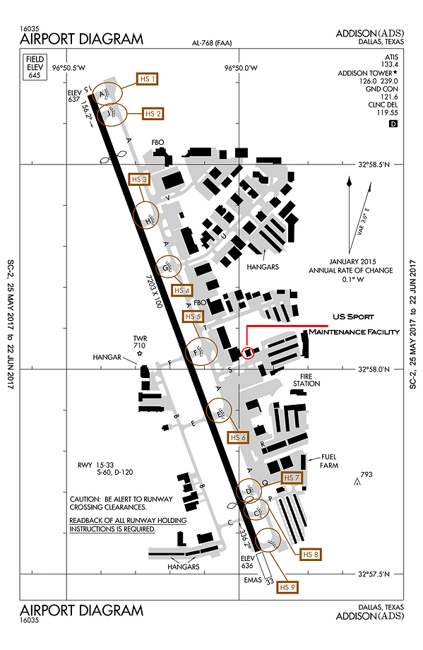Addison Airport Diagram