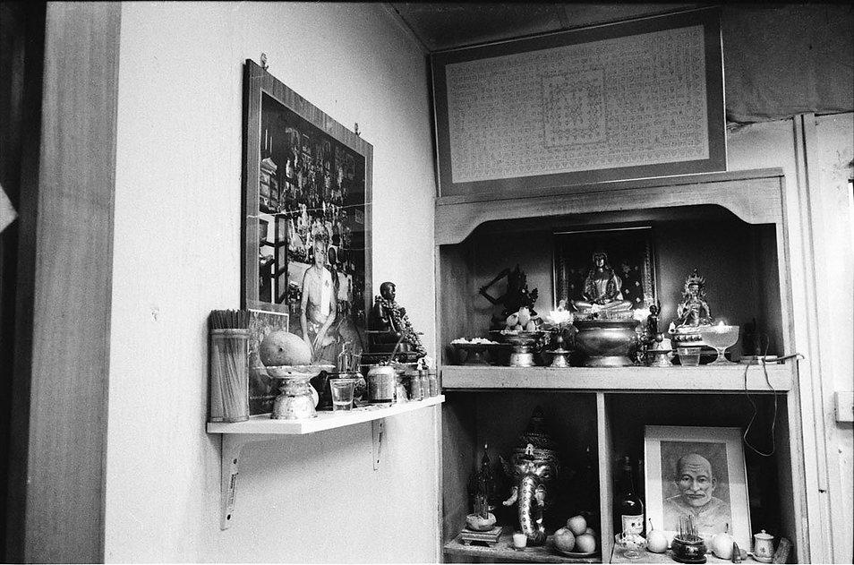 Melvin Mapa Buddha altar at Fo Guang Hang Singapore