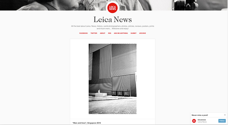 Melvin Mapa's contribution on Leica News