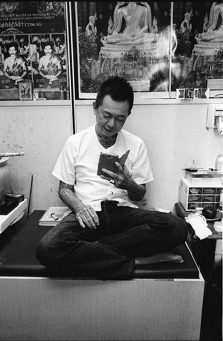 Melvin Mapa Sak Yant at Fo Guang Hang Singapore