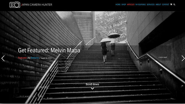 Melvin Mapa's published article on japan Camera Hunter