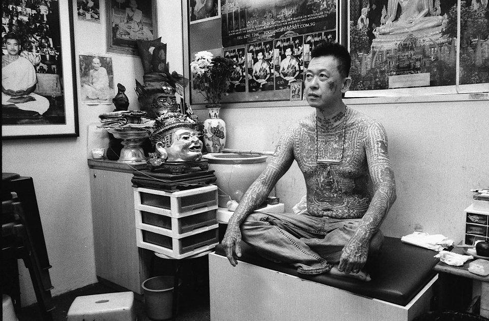 Melvin Mapa Sak Yant tattoo at Fo Guang Hang Singapore
