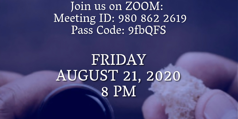 ZOOM Monthly Communion August