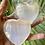 Thumbnail: Selenite large puffy heart ONE