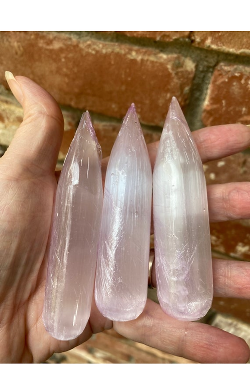 Selenite Pointed Wand ONE