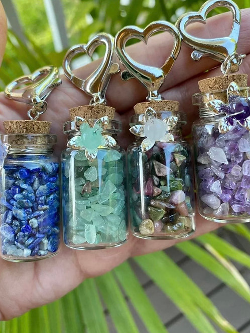Crystal Gemstone Bottles Set / 4