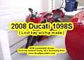 Lost Key Replacement Made For 2008 Ducati 1098